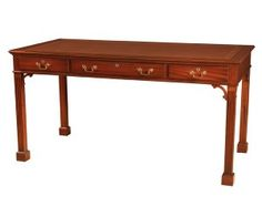 home decorators collection brexley chestnut writing desk 18th century maggiolini style three drawer writing desk 13629