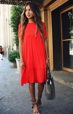 $17.95 Red midi dress.