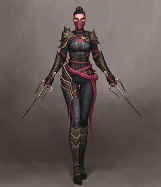 Character Inspiration, Character Art, Design Inspiration, Mortal Kombat 3, Mileena, L5r, Female Fighter, The Revenant, Fighting Games