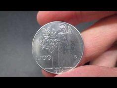 """NUMISMATICA ITALIANA - 100 Lire """"Minerva 1° tipo"""" della Repubblica Italiana - YouTube Coins, Money, Personalized Items, Youtube, Italian Lira, Rare Coins, Antiquities, Self, History"""