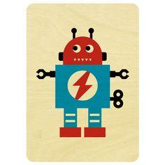 Robot wooden card