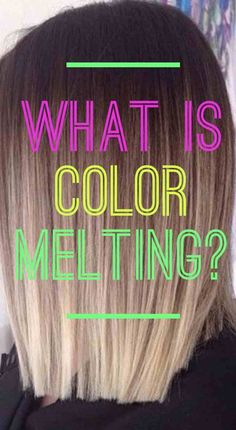 You've heard of ombré and balayage, but what about color melting? Learn everything you need to know about the trendy new color melt hair color technique. Dying Hair At Home, Ombre Hair At Home, Diy Ombre Hair, At Home Hair Color, Cool Hair Color, New Hair Color Trends, Hair Trends, Color Melting Hair, Colour Melt Hair