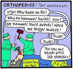 What is Orthopaedics Cartoon