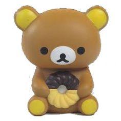 Rare Jumbo 12.5CM Misdo Mister Donut Rilakkuma Squeeze Toy. $10