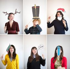 Holiday Photobooth Props + Free Printable