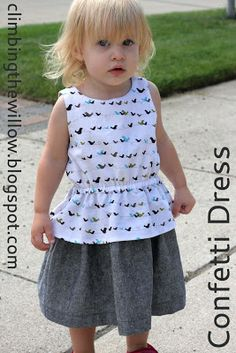 Climbing the Willow: free basic bodice pattern (18mo-5T)