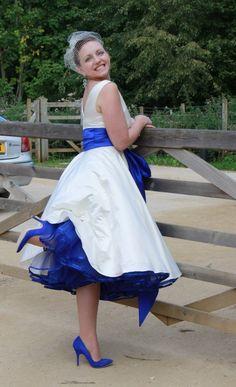 Mary, dress by Lizzie Jayne Designs, Holly, 50s wedding dress