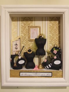 cadre vitrine miniatures un havre de paix vitrines miniatures doll houses tutos. Black Bedroom Furniture Sets. Home Design Ideas