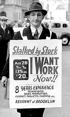 depression era. This is how badly people wanted to find jobs to help support there families. We now find jobs by internet we email our resumes now.