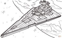 """Star Wars The Last Jedi Coloring Pages from A huge Collection of Star Wars Coloring Pages. Are your children a Star Wars lover? This legendary film indeed attracts many people of all ages. Since the release of the first Star Wars """"A New Hope… Free Adult Coloring Pages, Disney Coloring Pages, Free Printable Coloring Pages, Coloring Book Pages, Coloring Sheets, Star Destroyer, Star Wars Party, Star Wars Coloring Book, Star Wars Colors"""