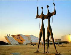 The Warriors, sculpture by Bruno Giorgi.    Brasília - Distrito Federal