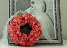 Rosette Ribbon Wreath for Valentines