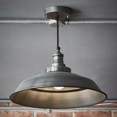 Black vintage old factory industrial metal lamp shade restaurant brooklyn vintage step metal lamp shade dark grey pewter 16 inch aloadofball Images