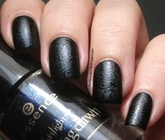 Essence Jacob's Protection & MASH Matte Polish & DRK-A from The Clockwise Nail Polish...what a gorgeous mani!