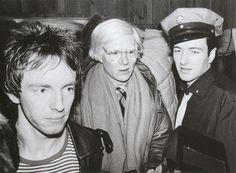 Topper Headon and Andy Warhol and Joe Strummer