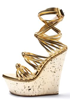 Beach resort chic...Emilio Pucci - Wicked Wedges For Summer Fun - Wear Anywhere Gold