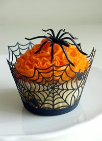Cupcake wrapper teia de aranha - clique para comprar!