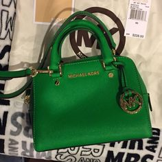 Michael Kors Small satchel MK small satchel in green. Very good condition only used it few times. Michael Kors Bags Satchels