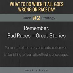 You can train perfectly and still have a bad race day. How to survive and how to move on. Read all of the strategies on my blog.