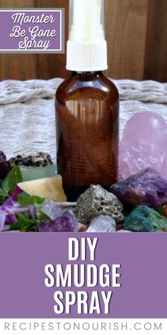 We all need some energy clearing sometimes. Help your kids sleep and rest easy with this DIY Smudge Spray aka Magic Monsters Be Gone Spray. Healthy Gluten Free Recipes, Primal Recipes, Real Food Recipes, Homemade Desserts, Kids Sleep, Natural Cleaning Products, Natural Living, Bedtime, Smudging
