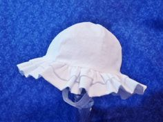 White Baby Sunhat Double Ruffle and Chin Straps with Velcro by AdorableandCute on Etsy