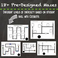 Ozobot Activities, Mazes, and Challenges Bundle Pack by Mrs Schimke
