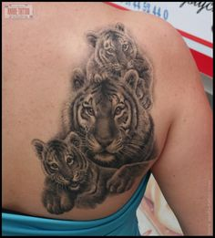tigers family tattoo tigers family tattoo, I absolutely love this