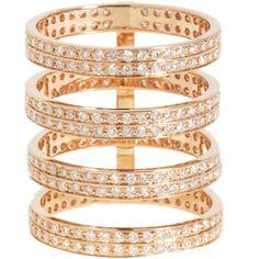 Repossi Rose Gold  Diamond Berbère Ring