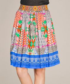 Another great find on #zulily! Blue Triangle Skirt #zulilyfinds