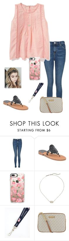 """""""Untitled #1002"""" by jessica-smith-xxv ❤ liked on Polyvore featuring Topshop, Palm Beach Sandals, Casetify, Kendra Scott, Vineyard Vines and MICHAEL Michael Kors"""