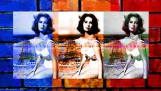 """A new digital painting with a Pop Art theme. Capturing Elizabeth Taylor on one of her frequent trips to the """"City of Lights"""" Paris, France. Ben Stein, Fine Art Prints, Framed Prints, Art Themes, Elizabeth Taylor, City Lights, Beautiful Artwork, Art World, Wood Print"""