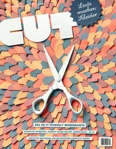 CUT - Leute machen Kleider, illustration, typography, photography, scissors, cover, paper, cut