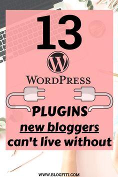 10 Best Wordpress Plugins For Your Site Wordpress For Beginners, Blogging For Beginners, Wordpress Plugins, Wordpress Free, Ecommerce, Blog Writing Tips, Make Money Blogging, Blogging Ideas, Blogging