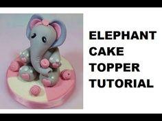 Elephant Cake Topper How To - Max's Cake Studio - YouTube