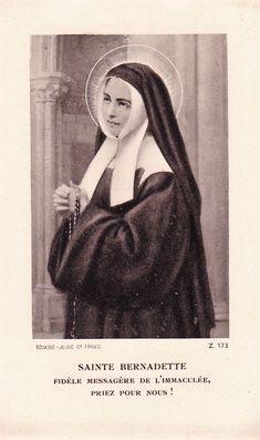 Santa Bernadette, January 7, Catholic Quotes, Madonna, Mona Lisa, Traditional, Artwork, Saints, Hail Mary