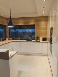 Kuchnia Kitchen Room Design, Luxury Kitchen Design, Home Room Design, Kitchen Cabinet Design, Home Decor Kitchen, Interior Design Kitchen, Home Kitchens, Modern Kitchen Interiors, Apartment Design