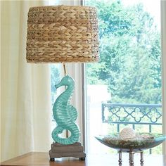 Enjoy the fun of nautical table lamps from Shades of Light! Coastal and beach-themed lamps bring a tropical atmosphere to your home, even if you don't live at the beach! Coastal Living, Coastal Decor, Estilo Navy, Nautical Table, Do It Yourself Design, Dream Beach Houses, Table Lamp Shades, Table Lamps, My Pool