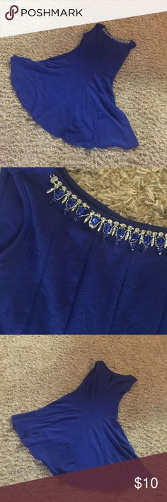 Royal Blue Dress Very cute blue dress. Petite XL one of the gems in the neckline is slightly broken. Dresses Midi