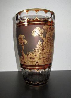 johann oertel______glasvase, handmalerei ____signiert hutter___26 cm | Antiquitäten & Kunst, Glas & Kristall, Sammlerglas | eBay!