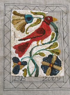 Brenda's Rug --Susan Feller - Fraktur Rughooking by {studiobeerhorst}-via Flickr