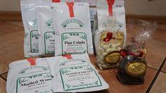 А вот и сам заказ. Кофе, конфеты (на подарки) и немножко чайку (Пинаколада, пуэр и т.д.)