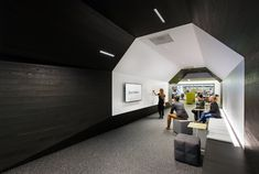collaborative space with writable walls / whiteboard walls at Autodesk