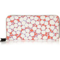Diane von Furstenberg Printed textured-faux leather wallet ❤ liked on Polyvore
