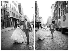 Wedding portraits in NYC's Meat Packing District