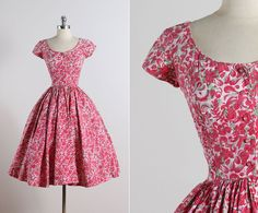 Jerry Gilden . vintage 1950s dress . vintage by millstreetvintage