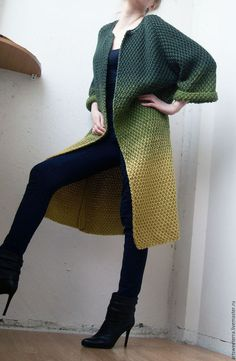 Bright gradient cardigan