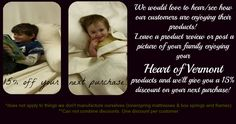 Organic Cotton Bed Sheets, Bedding, Comforter, Futon |Organic Bedding Products #HeartofVermont