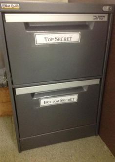 I will do this to a filing cabinet someday.