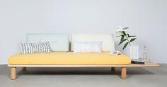 Sofá-cama modular de inspiración oriental