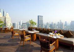 Bangkok / Anantara Bangkok Sathorn / Breakfast with a view / http://bangkok-sathorn.anantara.com #travel